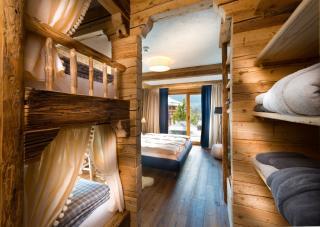 Schlafzimmer mit Stockbett, Chalet