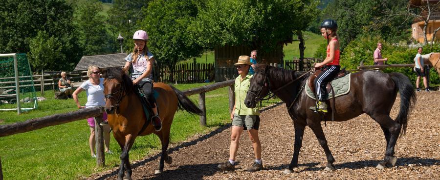 Reiten am Erlebnisbauernhof - Das Glück der Erde am Rücken der Pferde!
