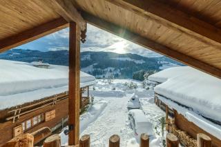 Proneben Gut Kuschelhütte 4 Herzen Balkon 1