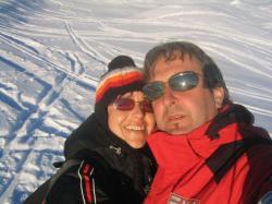 Romantische Winterwanderung