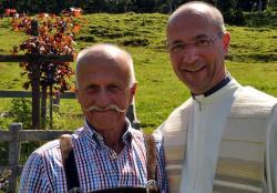 Opa Hansi mit Toni Faber
