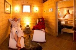 Eigene Finnische Sauna und Relaxbereich in der Kuschelhütte