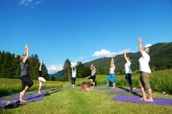 Yoga mit Sonja in der Wiese